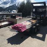 Wegestangen und div. Geländer abräumen und Mülldienst Winterwanderwege Oberlech