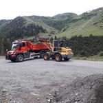 Splitt laden für Wasserrohrbruch Oberstubenbach