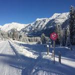 Die ersten Winterwanderwege sind ebenfalls schon präpariert: Lech-Oberlech Burgwaldweg, Stubenbach, Zug
