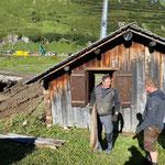 Hüttenabbau Skiweltcup Zürs