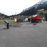 Jugendplatz: Arbeiten am neuen Bolzplatz