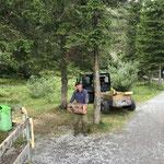 Erneuerungsarbeiten beim Kneippbecken