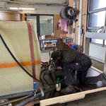 Adaptierungsarbeiten, Aufbau Kanalreiniger/Waschgerät am U 530