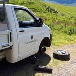 Reifenwechsel im Gelände