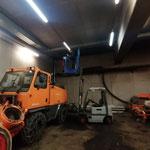 Leuchtmittel auswechseln in der Bauhofgarage...