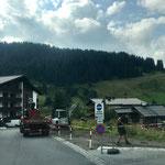 Umkehrplatz Stubenbach, Parkplatzsanierung nach Errichtung Tagwasserrinne