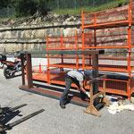 Malarbeiten Brücke Umbau Feuerwehrhaus