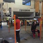 Adaptierungsarbeiten am Splittstreuer für U400