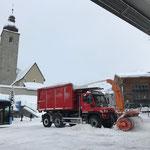 Schneedepot fräsen mit U530