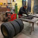 Reifenwalze konzipieren und konstruieren für Wegepräparierung mit Holder