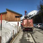 Schnee greifern bei der Schule, mit Traktor 6190 CVT