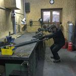 Schneestangen-Setz-Ein-Mann-Spezial-Gerät konstruieren in der Schlosserei