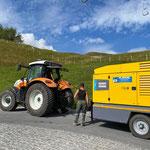 Drittleistung für Bohrfirma Plankel, Hängertransport in Oberlech