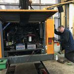 Service und Check Liebherr Lader 509 - Fräsmotor