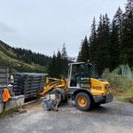 Bauhofdach befahrbar machen, Material verstellen