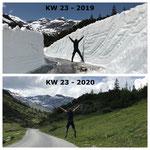 Schnee von gestern: Auffräsen Spullersee 2019