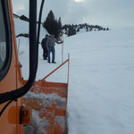 Straßenauffräsarbeiten in Oberlech, mit Rolba 1500