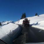Pistenbully Paana für Wegepräparierung nach Oberlech transportieren, mit U530