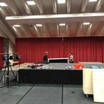 sport.park.lech umbauen für Veranstaltung am Sonntag
