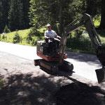 Schlaglöcher Parkplätze Waldbad Lech abziehen