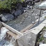 Wasserscheide Flexen Wasserzufuhr reparieren
