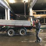 Aufbau Hängerfräse für Steyr 6190 CVT