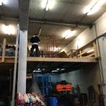 Lager aufräumen am Bauhof