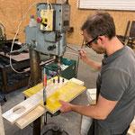 Provisorische Bodenschoner anfertigen für Gußeisenbänke Aquafitbecken