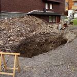 Arbeiten Wasserrohrbruch Oberlech
