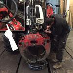 Reparatur Hydraulikschlauch am Kran des Steyr 6190 CVT