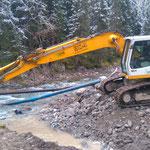 Waldbad Lech - Neubau Kinderbecken: Vorbereitungen für Neubau äußere Butzenbrücke