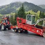 Baggertransport nach Stubenbach, mit Steyr 6240 CVT