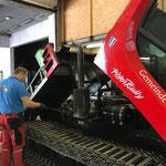 Pistenbully 100 Service: Motorreinigung