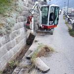 Kabelverlegungsarbeiten für Sammelplatz Skischule Lech