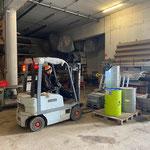 Aufräumarbeiten am Bauhof