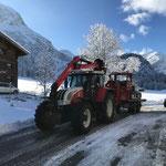 Snow Rabbit Transport am Omesberg, erste Winterwanderwege ab sofort begehbar