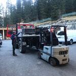Unimog 1600 Kipperanbau mit Ladeklappe montieren für Materialtransporte