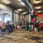 Epsilonkran demontieren und verladen für Adaptierungsarbeiten in Oberösterreich