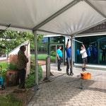 ACCR- Zeltaufbau
