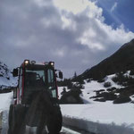 Drittleistung: Diesel-Taxi-Dienst Richtung Formarinsee, mit Holder C70 SC