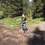 Wegebau Spullerbachweg, Samen säen