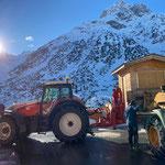 Hütte transportieren für Ski Zürs AG