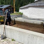 Reinigung Brunnen Kirchplatz