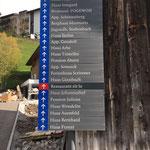Pensionsbeschilderung: Cafe Stubenbach gegen Restaurant zit lo tauschen