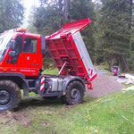 Spullerbachweg: Feinplanietransport