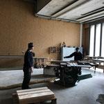 Vorbereitungen für Geländer Spullerbachbrücke