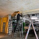 Schiebetor konstruieren Einfahrt Tunnel Gemeindezentrum