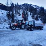 Steinverladetätigkeiten mit Steyr 6190 CVT Deponie Stubenbach