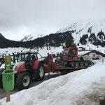 Snow Rabbit 3 Überstellung vom Tannberg nach Zürs, mit Steyr 6190 CVT und Bigabplattform