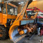 Reparaturarbeiten Fräsaufbau Rolba 600